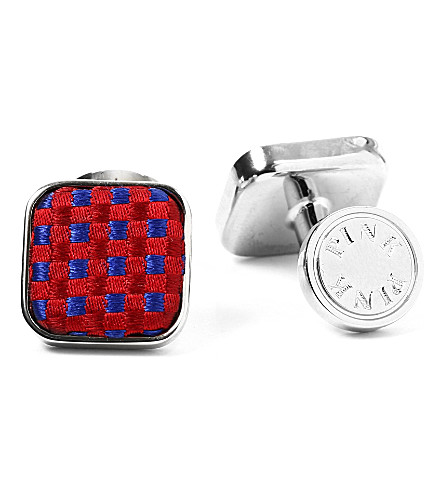 THOMAS PINK Gordon Check cufflinks (Red