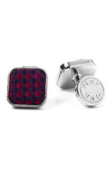 THOMAS PINK Gordon Check cufflinks