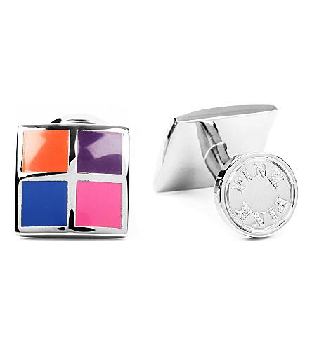 THOMAS PINK Four Panel cufflinks (Pink/blue