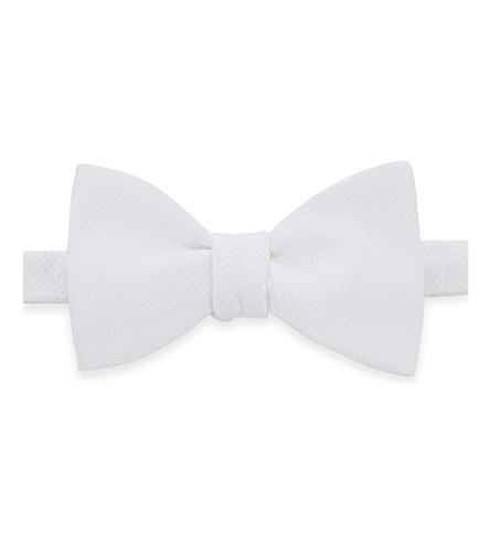 THOMAS PINK Marcella 'self tie' bow tie (White