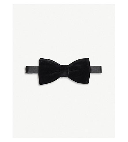 THOMAS PINK Ready-to-wear velvet bow tie (Black
