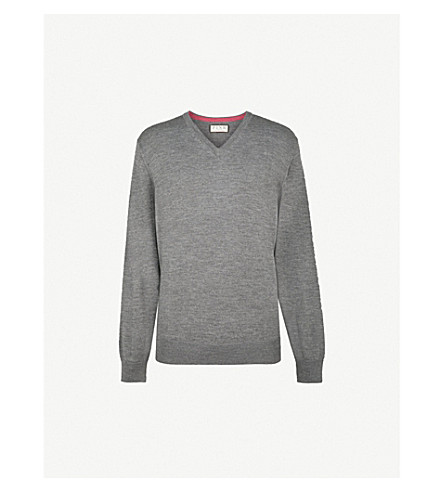 THOMAS PINK Hawthorne wool jumper (Charcoal
