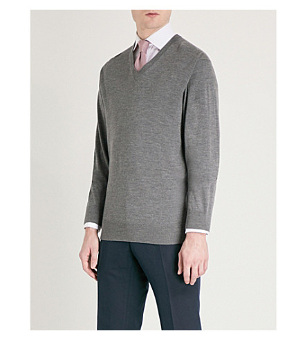 THOMAS PINK Hawthorne wool jumper (Charcoal