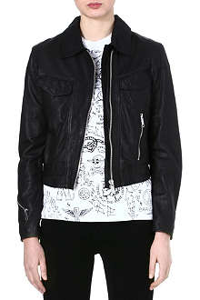 DIESEL Zip leather jacket