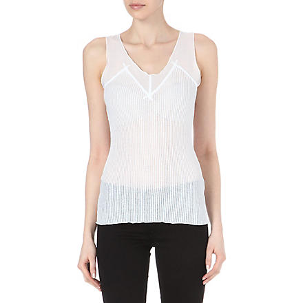 DIESEL T-Canum ribbed vest (White