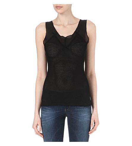 DIESEL T-Canum ribbed vest (Black