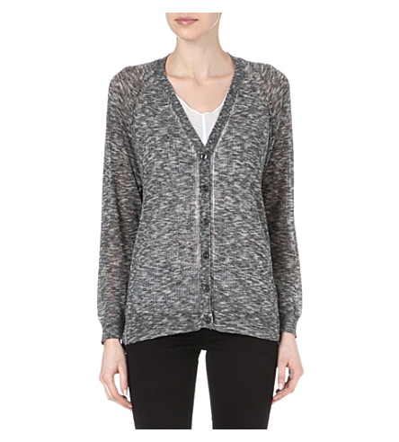 DIESEL Multicoloured knitted cardigan (Grey