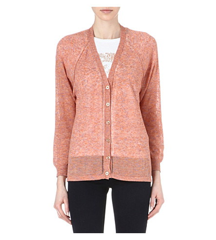 DIESEL Multicoloured knitted cardigan (Orange