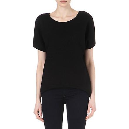 DIESEL Textured short-sleeve sweatshirt (Black