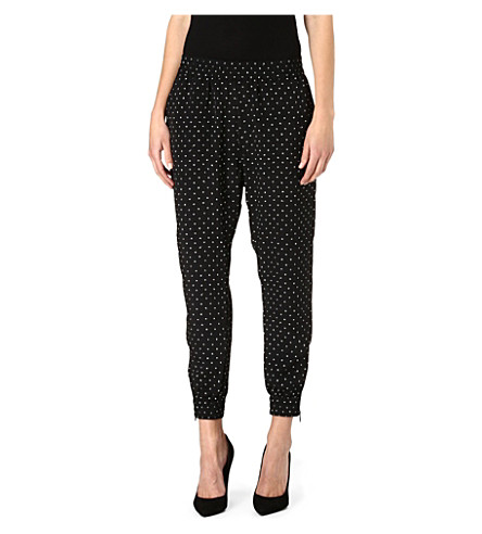 DIESEL Polka dot jogging bottoms (Black