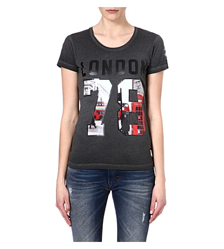 DIESEL Cotton graphic t-shirt (Black