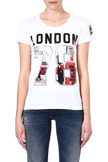 DIESEL Graphic cotton t-shirt