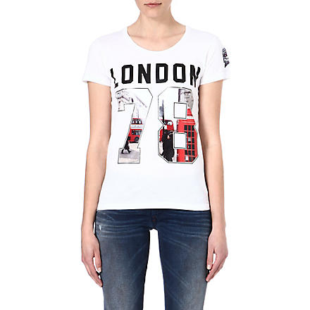 DIESEL Graphic cotton t-shirt (White
