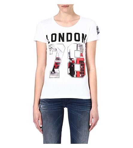 DIESEL Graphic cotton t-shirt (White