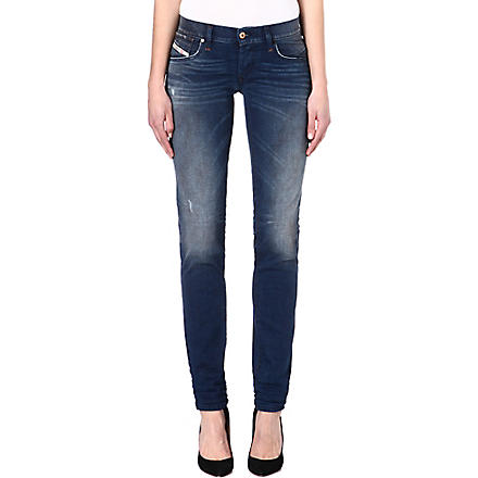 DIESEL Sweat mid-rise jeans (Blue