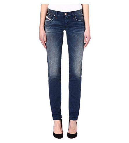 DIESEL Sweat mid-rise jeans (Blue
