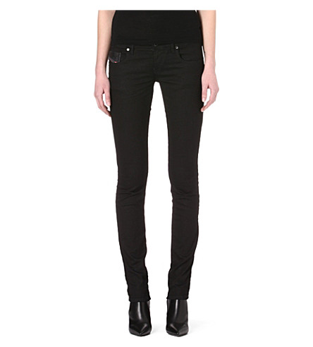 DIESEL Tribute skinny low-rise jeans (Black