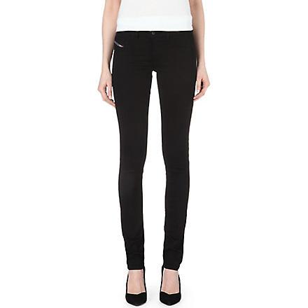 DIESEL Livier mid-rise skinny jeans (Black