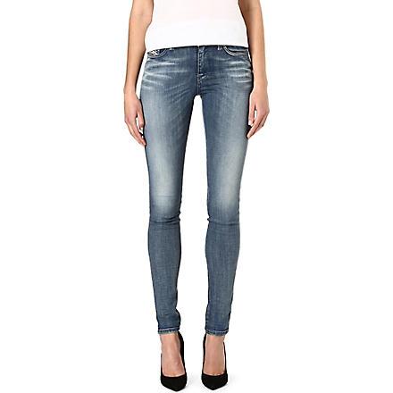 DIESEL Skinzee skinny mid-rise jeans (Blue