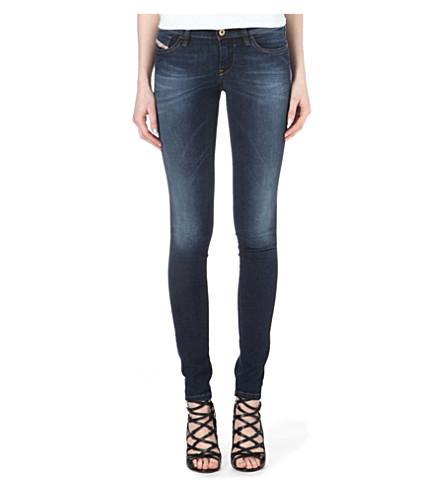 DIESEL Skinzee low-rise skinny jeans (Blue