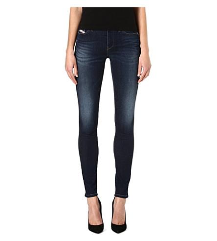 DIESEL Skinzee skinny mid-rise jeans (Indigo