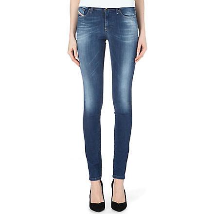 DIESEL Skinzee mid-rise skinny jeans (Indigo