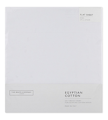 THE WHITE COMPANY Egyptian cotton sateen fitted sheet (White