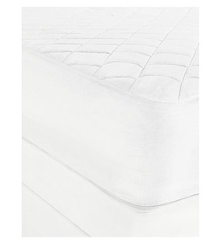 THE WHITE COMPANY Luxury anti-allergy mattress protector double (White