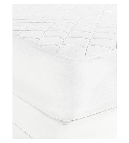 THE WHITE COMPANY Luxury anti-allergy mattress protector super king (White