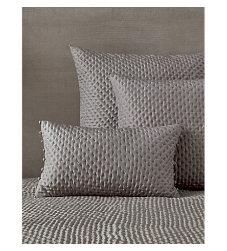 THE WHITE COMPANY Audley silk and cotton cushion cover 50cm (Mink