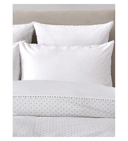 THE WHITE COMPANY Avignon cotton percale superking Housewife pillowcase (White