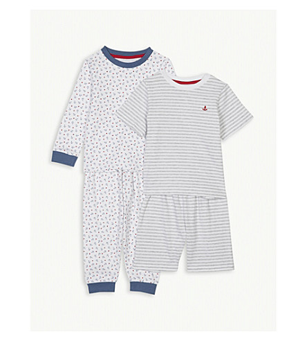 THE LITTLE WHITE COMPANY Anchor print cotton pyjamas set of two 1-6 years (Multi