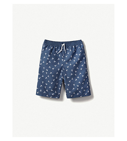 THE LITTLE WHITE COMPANY Anchor swim shorts 1-6 years (Navy