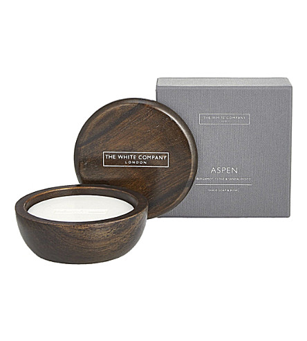 THE WHITE COMPANY Aspen shave soap and bowl gift set (No+colour