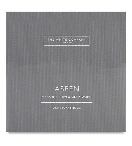 THE WHITE COMPANY Aspen shave soap and bowl (No+colour