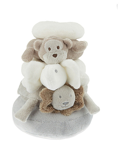 THE LITTLE WHITE COMPANY Animal stacker (White/grey