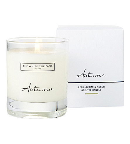 THE WHITE COMPANY Autumn signature candle (No+colour