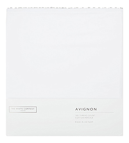 THE WHITE COMPANY Avignon king cotton duvet cover (Silver+grey