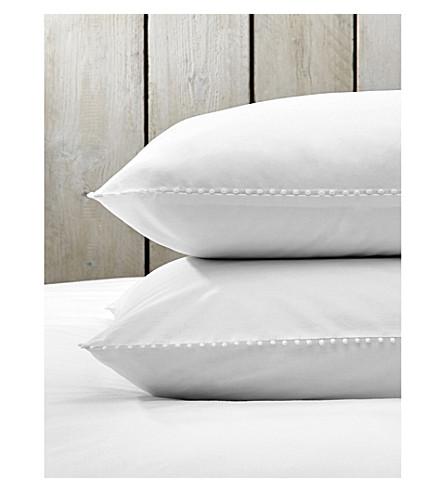 THE WHITE COMPANY Avignon standard cotton pillow case (White