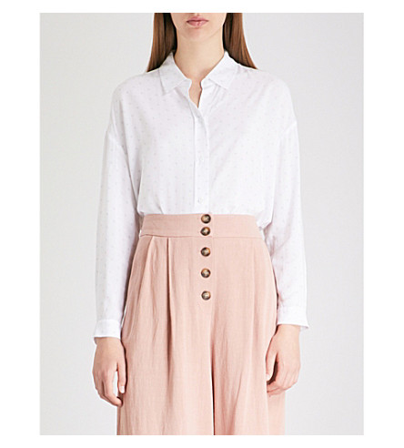 THE WHITE COMPANY Avignon rectangle-print woven shirt (White