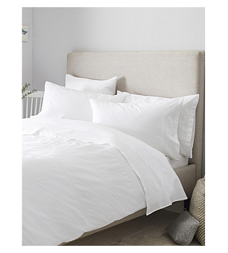 THE WHITE COMPANY Azores cotton duvet cover double (White