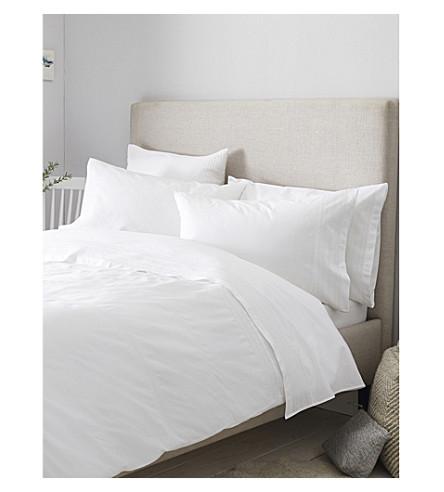 THE WHITE COMPANY Azores cotton duvet cover single (White