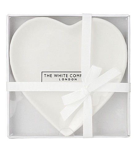 THE WHITE COMPANY Heart-shaped porcelain soap dish 11cm