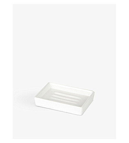 THE WHITE COMPANY Ceramic soap dish (White