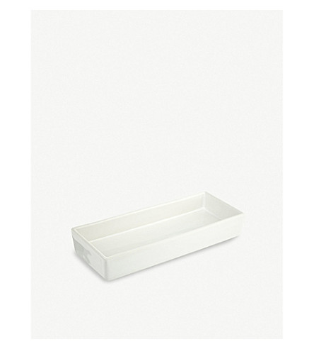 THE WHITE COMPANY Ceramic rectangular container (White