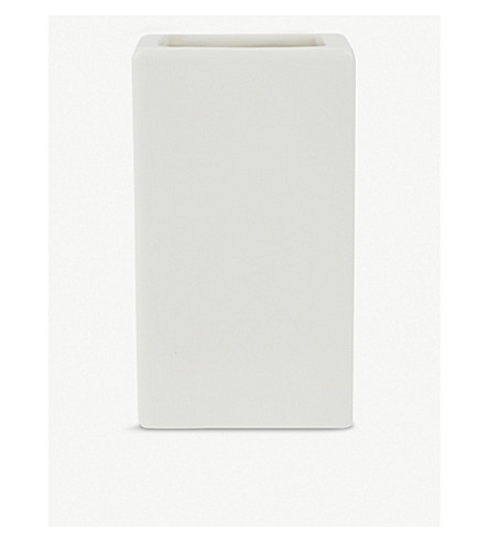 THE WHITE COMPANY Newcombe ceramic toothbrush holder (White