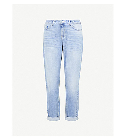 THE WHITE COMPANY Brompton boyfriend-fit mid-rise jeans (Pale+wash