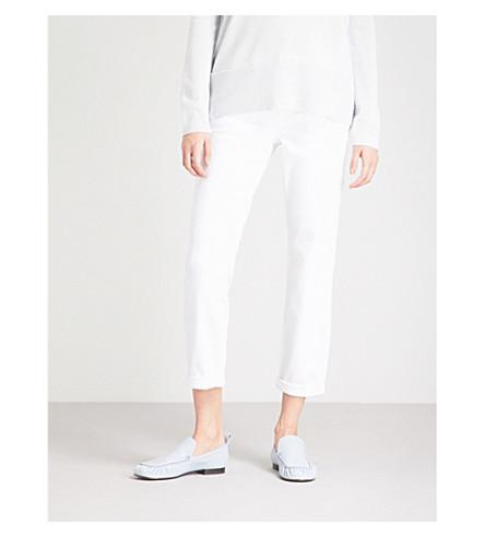 THE WHITE COMPANY Brompton boyfriend-fit mid-rise jeans (White