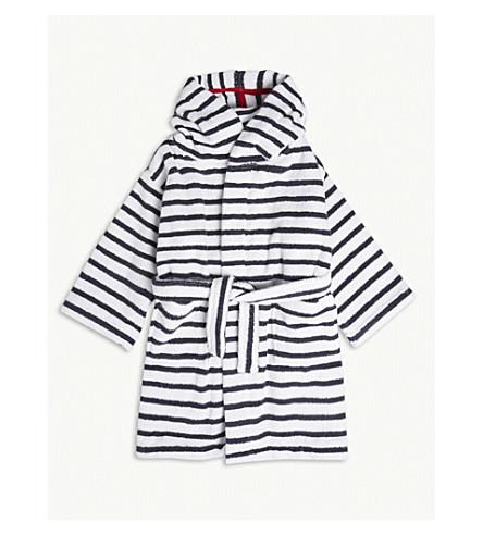 THE LITTLE WHITE COMPANY Breton stripe cotton robe 1-6 years (Multi