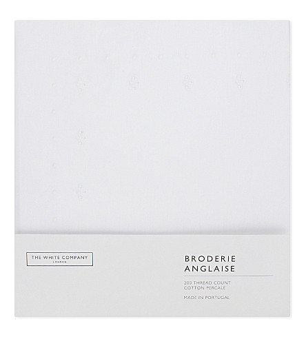 THE WHITE COMPANY Broderie anglaise single duvet cover (White